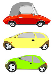 strange car illustrations