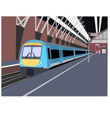 train in station illustration