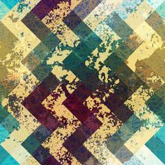 Grunge chevron pattern on blue background.