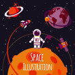 Space flat illustration - 71873428