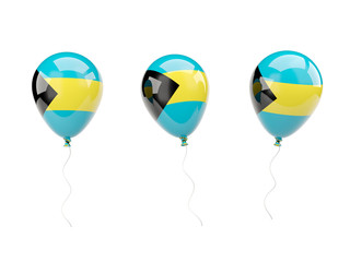 Air balloons with flag of bahamas