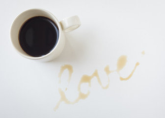 Coffee with LOVE alphabet Valentine concept
