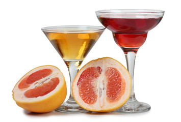 Grapefruit and coctail