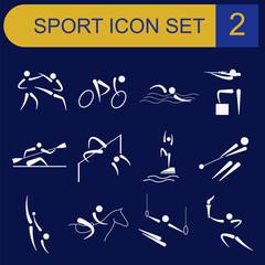 Sport icon set. Flat style