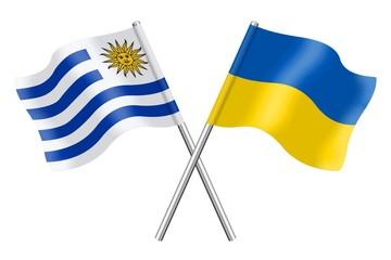 Flags: Uruguay and Ukraine