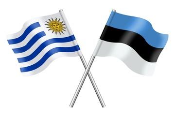 Flags: Uruguay and Estonia