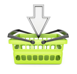 Shopping basket and pointing cursor