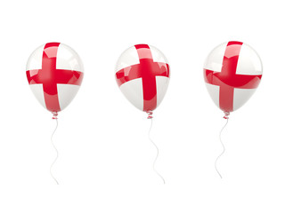 Air balloons with flag of england
