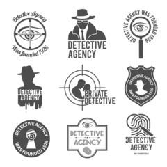 Detective label set