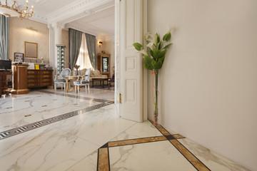 Counter in luxury villa hotel