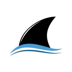 Vector logo abstract stylized shark