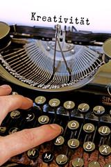 Alte Schreibmaschine, Kreativität Wort