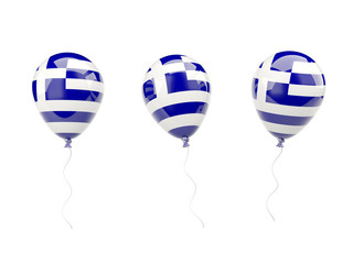 Air balloons with flag of greece