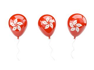 Air balloons with flag of hong kong