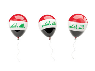 Air balloons with flag of iraq