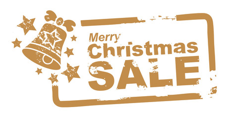 Merry Christmas Sale, Stempel gold