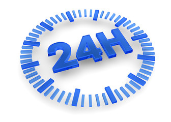 24 Hours icon - 3D