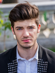 Handsome blue eyes man portrait