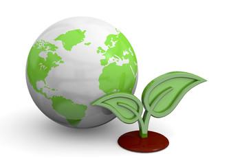 Green Planet Concept - 3D