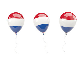 Air balloons with flag of netherlands