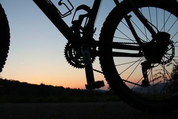Hinterteil eines Fahrrads