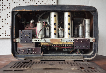 Vintage Radio Back tube Amplifier
