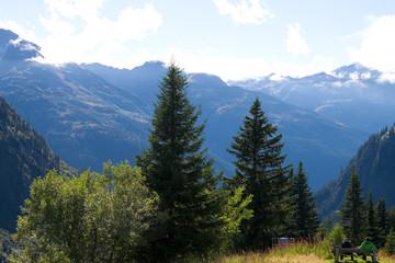 Wanderer in Tirol - Alpen