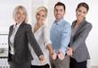 canvas print picture - Berater Team aus Männer und Frauen mit Daumen hoch