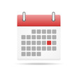 Calendar icon. Time management organization icon