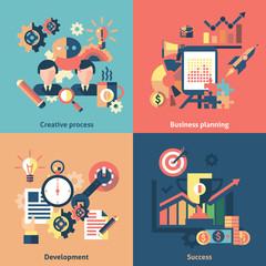 Creative icons set flat
