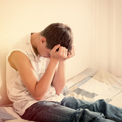 Sad Teenager at Home