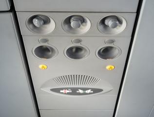 Fasten Seat belt Sign inside Airplane