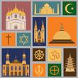 Religion icon set - 71880076