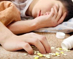 Teenager near the Pills