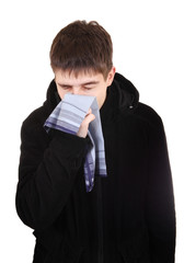 Teenager with Flu