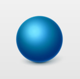 Glossy blue sphere.Vector, isolated