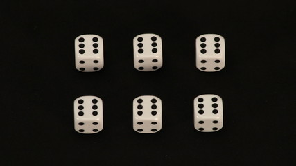 Playing cubes tricks, stopmotion animation, top view