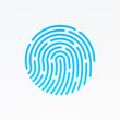 ID app icon. Fingerprint vector illustration - 71880694