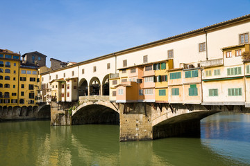 Ponte vecchio on sunny day, Florence, Italy