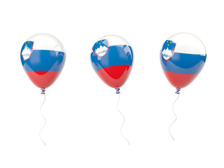 Air balloons with flag of slovenia