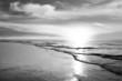 Leinwandbild Motiv Strand - Monochrom