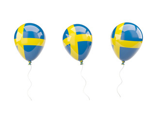 Air balloons with flag of sweden