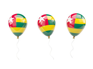 Air balloons with flag of togo