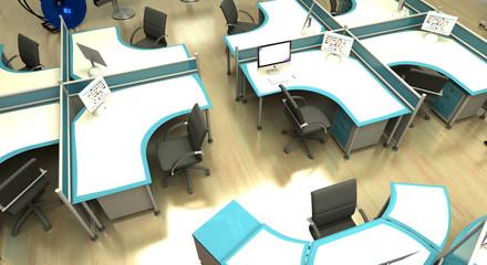 Ufficio coworking scrivanie, studio , startup