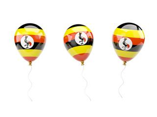 Air balloons with flag of uganda