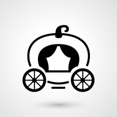 carriage icon vector