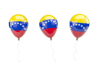 Air balloons with flag of venezuela