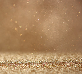 glitter vintage lights background. abstract gold background . de