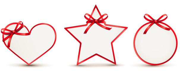 Geschenkkarten Set mit roter Schleife