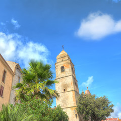 steeple and buildings
